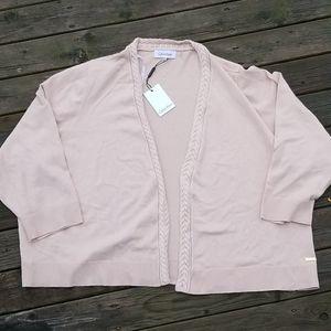 NWT Calvin Klein blush colored sweater